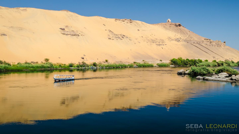 El Nilo, el desierto y el Mausoleo de Aga Khan