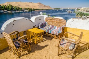 El Nilo desde la terraza de la casa Nubia en la Isla Elefantina