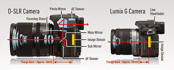 Comparativa de sistemas: la DSLR vs Mirrorless